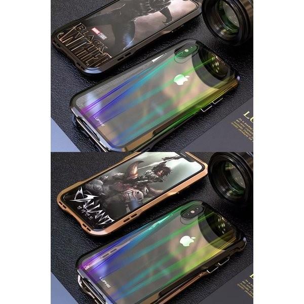 iPhoneX iPhone X ケース カバー iPhoneXケース 磁石止め アルミ マグネット ガラスフィルム 進呈|u-link2|07