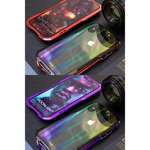 iPhoneX iPhone X ケース カバー iPhoneXケース 磁石止め アルミ マグネット ガラスフィルム 進呈|u-link2|08