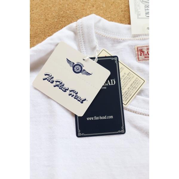 THE FLAT HEAD x 小松美羽 フラットヘッド 2017干支Tシャツ 40 WHT 不死鳥 3本針 タグ付 丸胴 THC-KM05|u-v-c-s-overlock|05