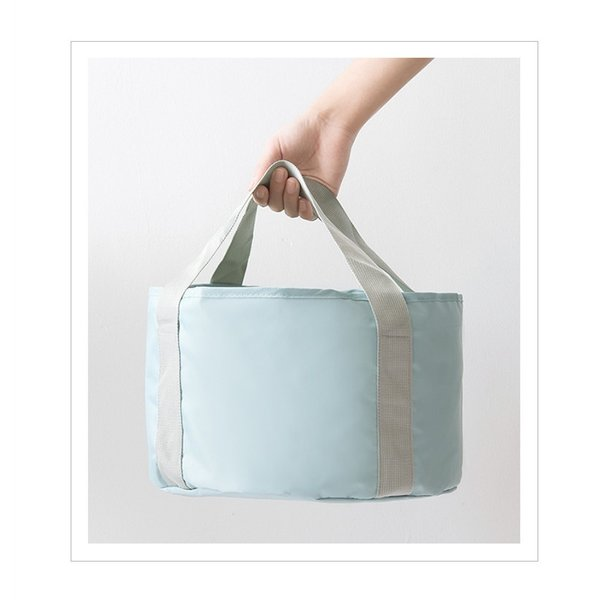 アウトドア 折りたたみ バケツ  軽量  ポーチ付き アウトドア 丸型  水袋 収納袋付 コンパクト 海 ビーチ 便利