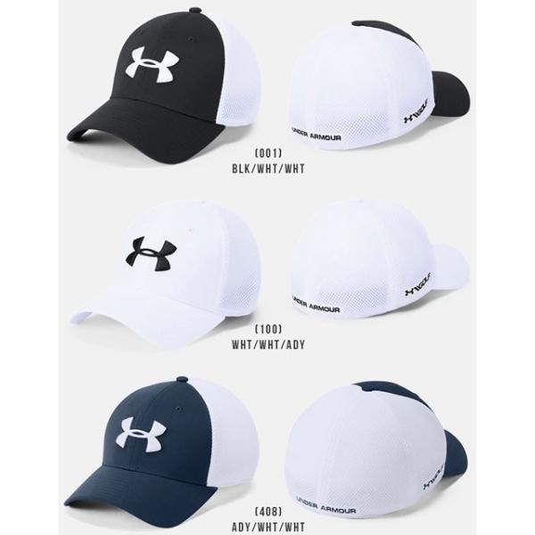 アンダーアーマー メンズ ゴルフ キャップ 帽子 1305017 ヒートギア 夏用 UNDER ARMOUR スレッドボーンクラシックメッシュキャップ uacv 02
