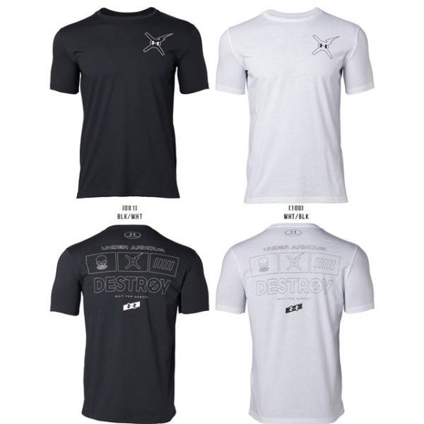 アンダーアーマー メンズ Tシャツ グラフィックTシャツ 背中ロゴ トップス 1329601 UNDER ARMOUR バックロゴTシャツ<DESTROY>|uacv|02