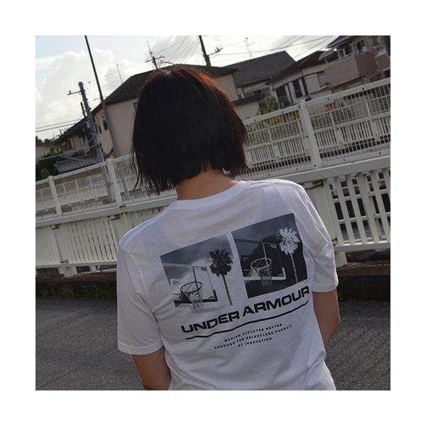アンダーアーマー メンズ Tシャツ グラフィックTシャツ バックロゴ コットン 速乾 伸縮 1329614 UNDER ARMOUR チャージドコットンTシャツ<スプリットヘム> uacv