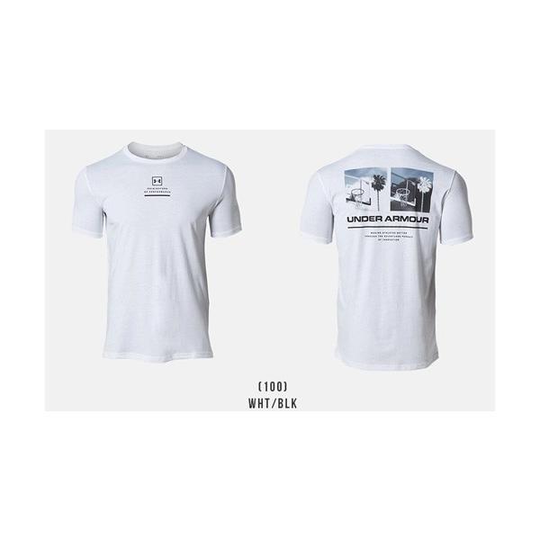 アンダーアーマー メンズ Tシャツ グラフィックTシャツ バックロゴ コットン 速乾 伸縮 1329614 UNDER ARMOUR チャージドコットンTシャツ<スプリットヘム> uacv 02