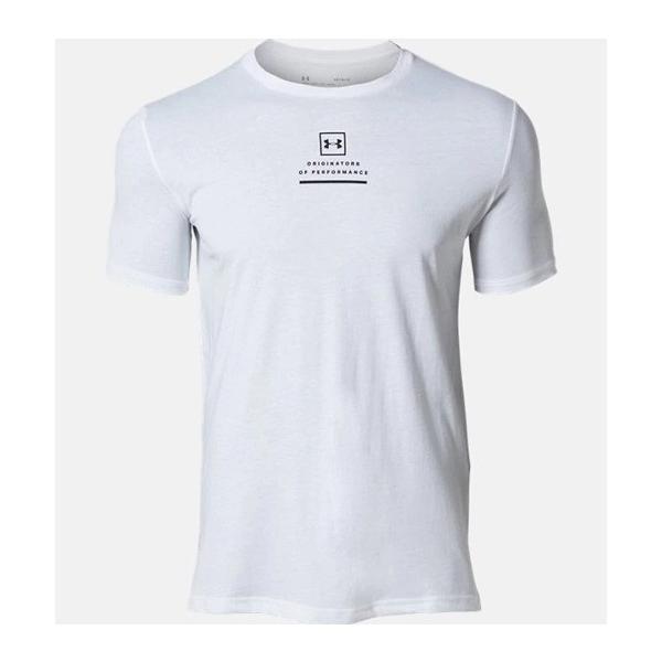 アンダーアーマー メンズ Tシャツ グラフィックTシャツ バックロゴ コットン 速乾 伸縮 1329614 UNDER ARMOUR チャージドコットンTシャツ<スプリットヘム> uacv 03