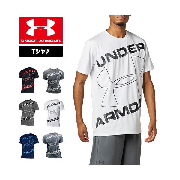 アンダーアーマーTシャツメンズ半袖ビッグロゴトレーニングスポーツジム1359133ヒートギアUNDERARMOURテックTシャツ