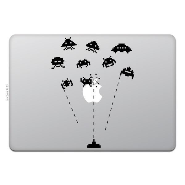 MacBook Air / Pro マックブック ステッカー シール テレビ CM レトロ スペース インベーダー ゲーム