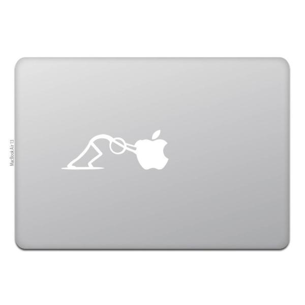 MacBook Air / Pro マックブック ステッカー シール 人 プッシュ PUSH|uandme|02