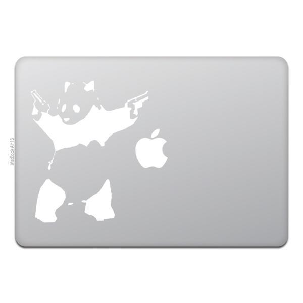 MacBook Air / Pro マックブック ステッカー シール シューティング パンダ バンクシー The Shooting Panda Banksy