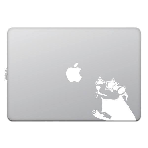 MacBook Air / Pro マックブック ステッカー シール 星 メガネ ラット Star Glasses Rat
