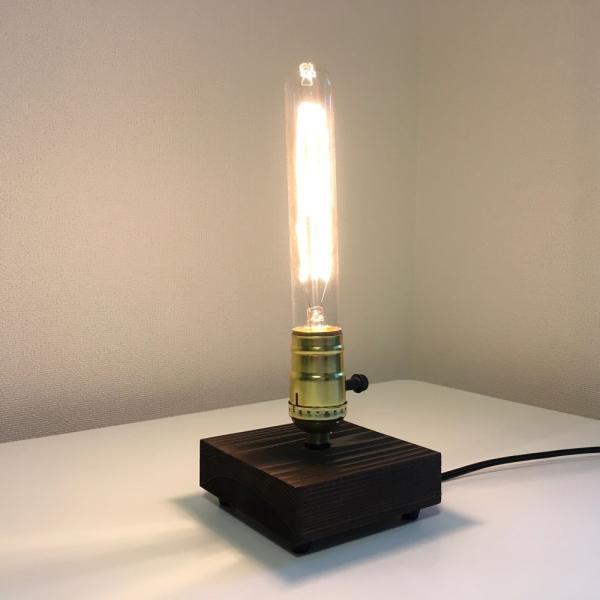 アンティーク調 エジソン バルブ EDISON BULB エジソン ランプ テーブルランプ スタンドライト 間接照明 ハンドメイド 40W (185 ゴールド 回転スイッチ)M697|uandme