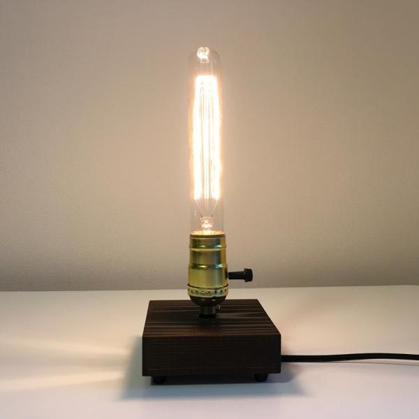アンティーク調 エジソン バルブ EDISON BULB エジソン ランプ テーブルランプ スタンドライト 間接照明 ハンドメイド 40W (185 ゴールド 回転スイッチ)M697|uandme|02