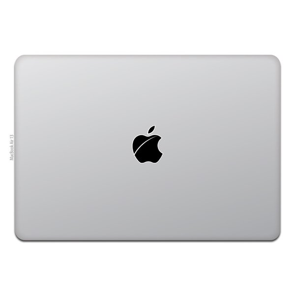 MacBook Air / Pro マックブック ステッカー シール Apple マーク iOS 傷りんご キズりんご|uandme