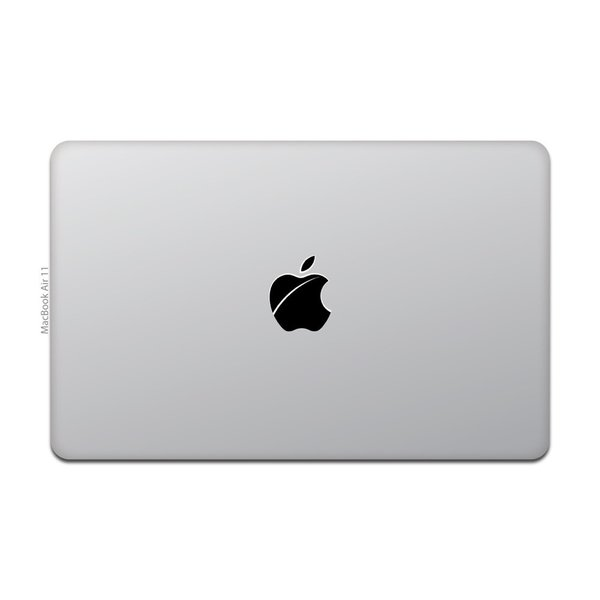 MacBook Air / Pro マックブック ステッカー シール Apple マーク iOS 傷りんご キズりんご|uandme|02