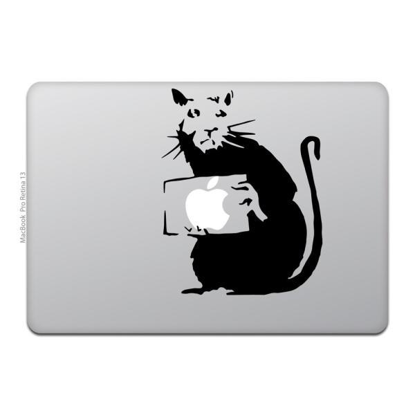 MacBook Air / Pro マックブック ステッカー シール ラット バンクシー RAT BANKSY