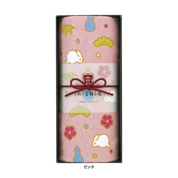 タオルギフトセット ガーゼ ブランド inishie いにしへ うさぎの松竹梅 浴用タオル1枚 ウチノタオル|uchino|02