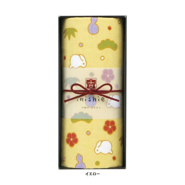 タオルギフトセット ガーゼ ブランド inishie いにしへ うさぎの松竹梅 浴用タオル1枚 ウチノタオル|uchino|04