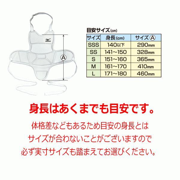 ミズノ 空手 ボディプロテクター(インナータイプ) 2019年継続モデル [物流](メール便不可)|uchiyama-sports|03