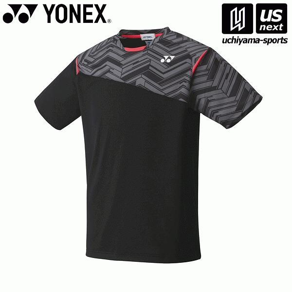 ヨネックス YONEX 10366 テニス・バドミントン(PRACTICE) ウェア ユニゲームシャツ(フィットスタイル) ブラック [取り寄せ][自社](メール便不可)(P5倍)