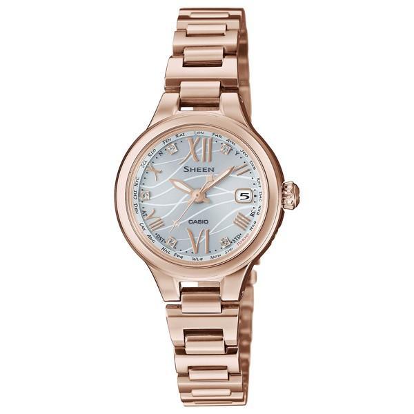SHW-1700CG-7AJF SHEEN シーン CASIO カシオ SHEEN ピーチゴールド  レディース 腕時計 送料無料 国内正規品 おしゃれ かわいい