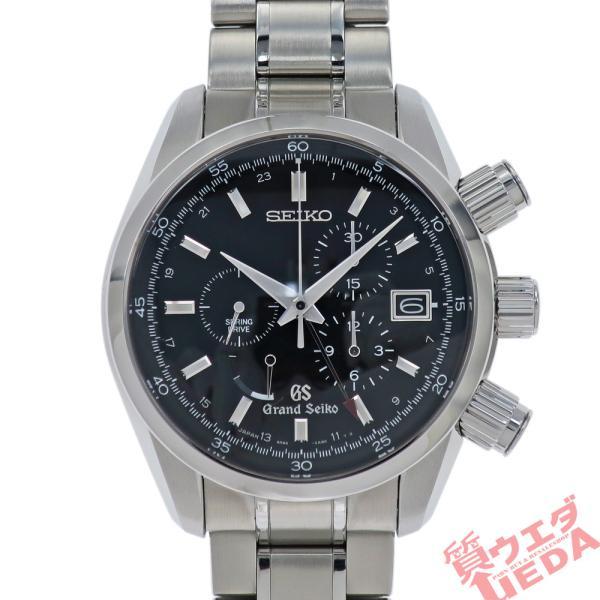 名東 グランドセイコースプリングドライブクロノグラフGMTSBGC003マスターショップ SSメンズ男腕時計 美品