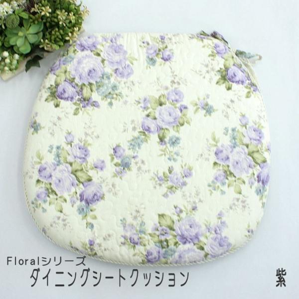 Floral 花柄キルト ダイニング シート クッション|uedakaya|04