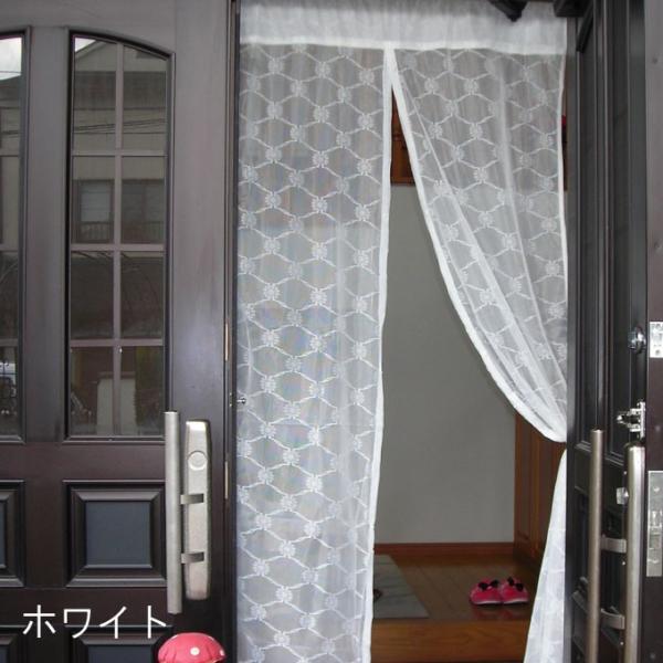 玄関 用 カーテン 1枚まで メール便対応 ( のれん タイプ 1枚) 約巾100×高200cm 調節可能 マジックテープ付き|uedakaya|02
