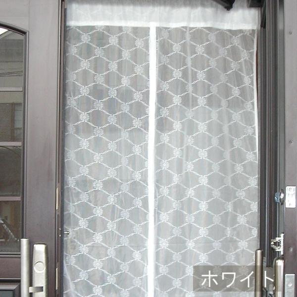 玄関 用 カーテン 1枚まで メール便対応 ( のれん タイプ 1枚) 約巾100×高200cm 調節可能 マジックテープ付き|uedakaya|03