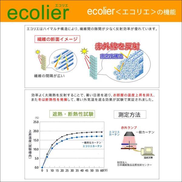 遮熱 断熱 2級 遮光 カーテン エコリエ  巾100cm 丈3サイズ 2枚組 帝人エコリエ使用|uedakaya|06