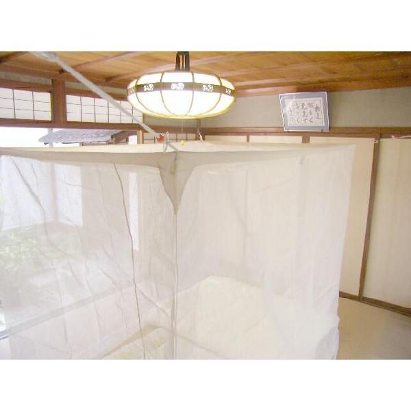国産 蚊帳 綿 天然綿100%  3畳用 生成|uedakaya|02
