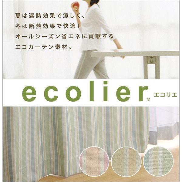エコリエ 遮光カーテン 遮熱 断熱 2級遮光 ストロー 幅100cm−丈90〜135cm 2枚組|uedakaya