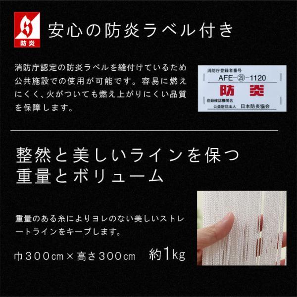 防炎 ストリング カーテン ひも のれん 幅50〜98cm・丈50〜100cmまで オーダー メイド 店舗 施設に|uedakaya|03