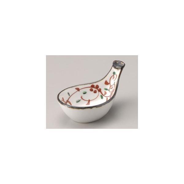 和食器赤絵びわ型珍味/大きさ・10×6.1×5cm