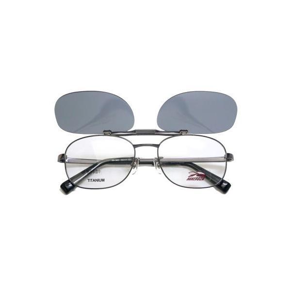 ハネルザ HANERUZA マグネット式偏光ハネアゲ付きメガネ 度付き薄型レンズ付きセット|uemuramegane