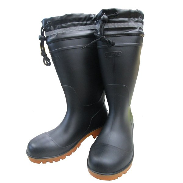 【9665】セミ耐油安全長靴インジェクション製法で剥離に強い構造。JIS(S)級相当鉄製先芯入り