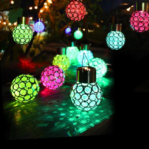 七色LEDソーラーライト クリスマス イルミネーション 冬 スイッチ式 電気代0 庭 パーティ 結婚式 屋外 |ufo-japan|03