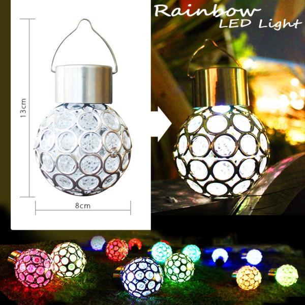 七色LEDソーラーライト クリスマス イルミネーション 冬 スイッチ式 電気代0 庭 パーティ 結婚式 屋外 |ufo-japan|05