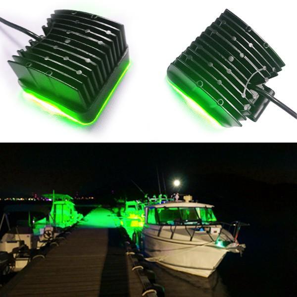 LED集魚灯 48W 3360lm 青LED 緑LED LEDライト 作業灯 夜釣り LEDライト 魚が集まる イノシシ被害防止 夜に畑の作物に被害防止