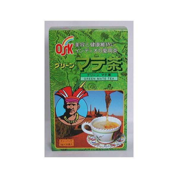 グリーンマテ 茶 ティーパック 5g 32袋 6箱 健康茶 OSK 小谷穀粉