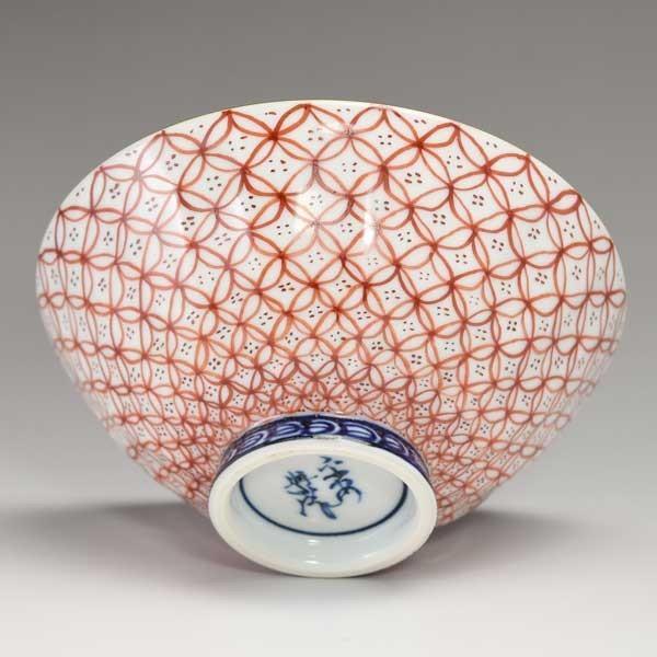 清水焼 京焼 組飯碗 青赤七宝 京都の高級 手作り 和食器 茶碗 お茶碗 来客用に|ujichaen|03