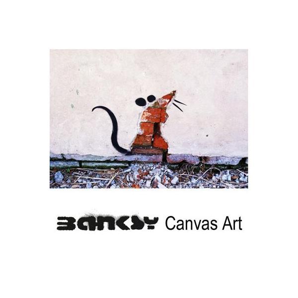 Banksy バンクシー Rat Cut Out Wall アート|ukclozest