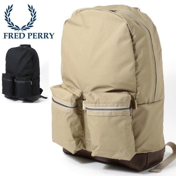 フレッドペリー Fred Perry リュックサック バックパック 47×31.5x13.5cm 2色 ネイビー ベージュ ukclozest