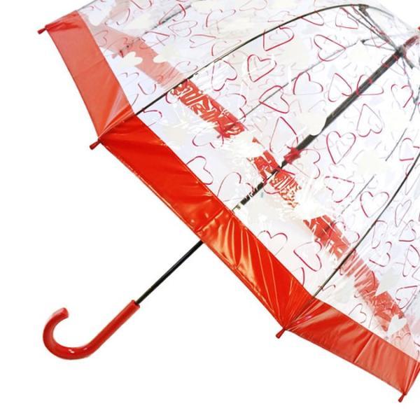 Fulton 傘 バードケージ ハート レッド 長傘 ブランド レディース