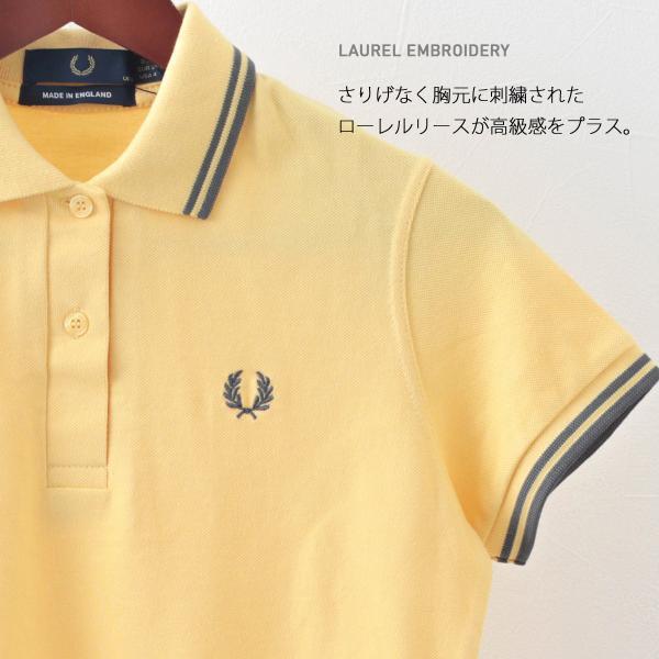 フレッドペリー Fred Perry ポロシャツ 9色 ツインティップ プレーン 英国製 フレッドペリー レディース|ukclozest|03
