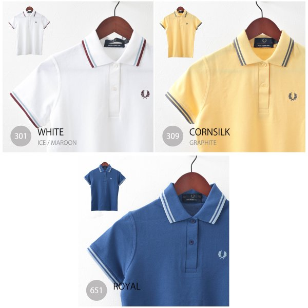 フレッドペリー Fred Perry ポロシャツ 9色 ツインティップ プレーン 英国製 フレッドペリー レディース|ukclozest|05
