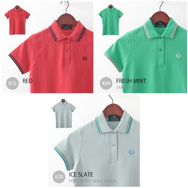 フレッドペリー Fred Perry ポロシャツ 9色 ツインティップ プレーン 英国製 フレッドペリー レディース|ukclozest|06