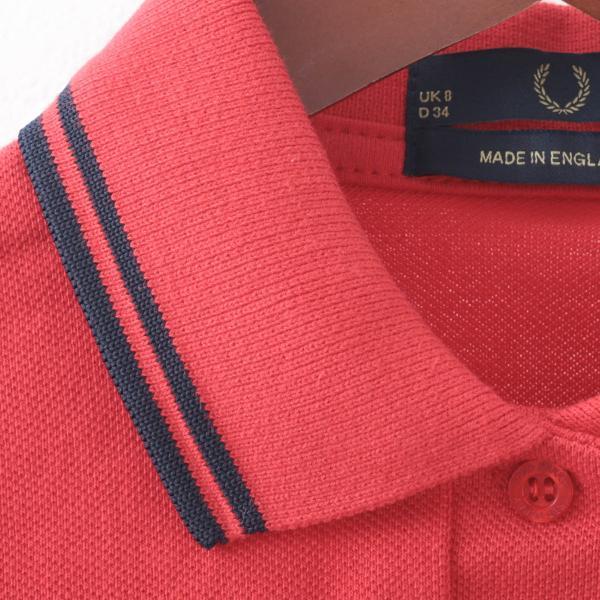 フレッドペリー Fred Perry ポロシャツ 9色 ツインティップ プレーン 英国製 フレッドペリー レディース|ukclozest|09