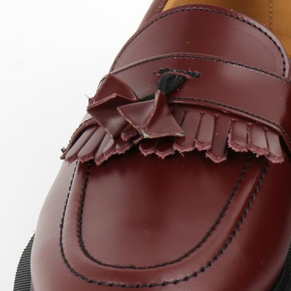 SOLOVAIR レディース 革靴 ソロヴェアー ローファー オックスブラッド タッセル フリンジ