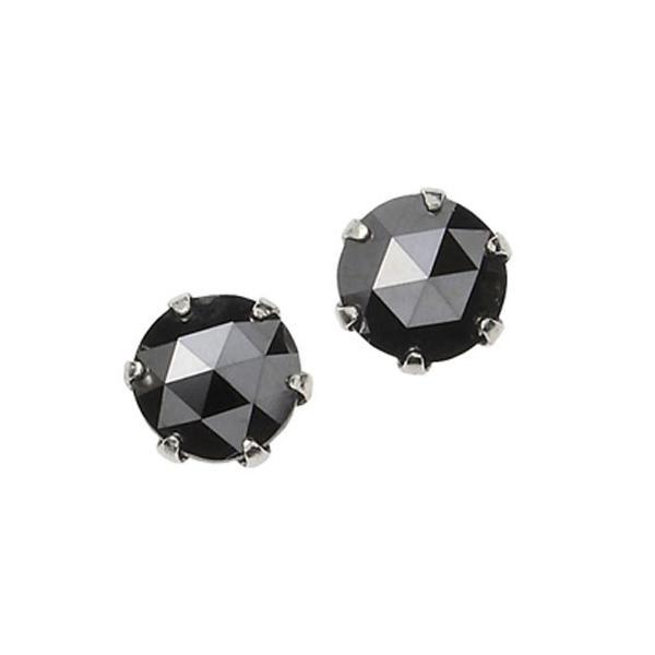 プラチナ 一粒 ブラックダイヤモンド ピアス 0.5ct|ukigoods