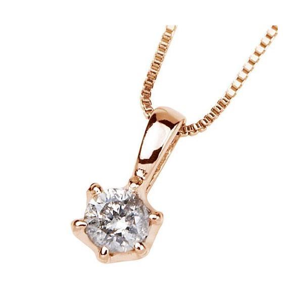 ダイヤモンドネックレス K18ピンクゴールドホースシューダイヤペンダント (送料無料)|ukigoods|02